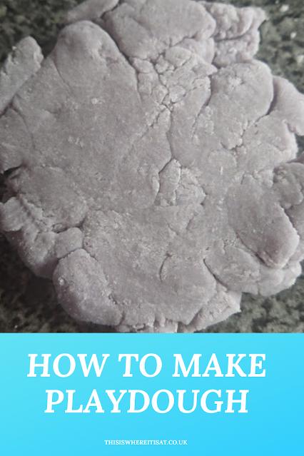 How to make playdough.