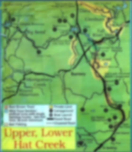 hat creek fishing map, access and regulations