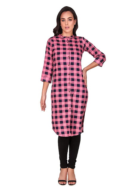 Checks Kurtis for Women