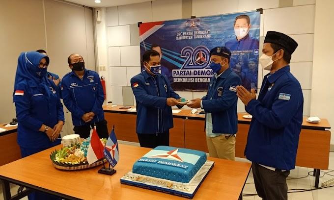 HUT Ke-20, Ini Sederet Upaya Partai Demokrat DPC Kabupaten Tangerang Bantu Rakyat Hadapi Pandemi Covid-19