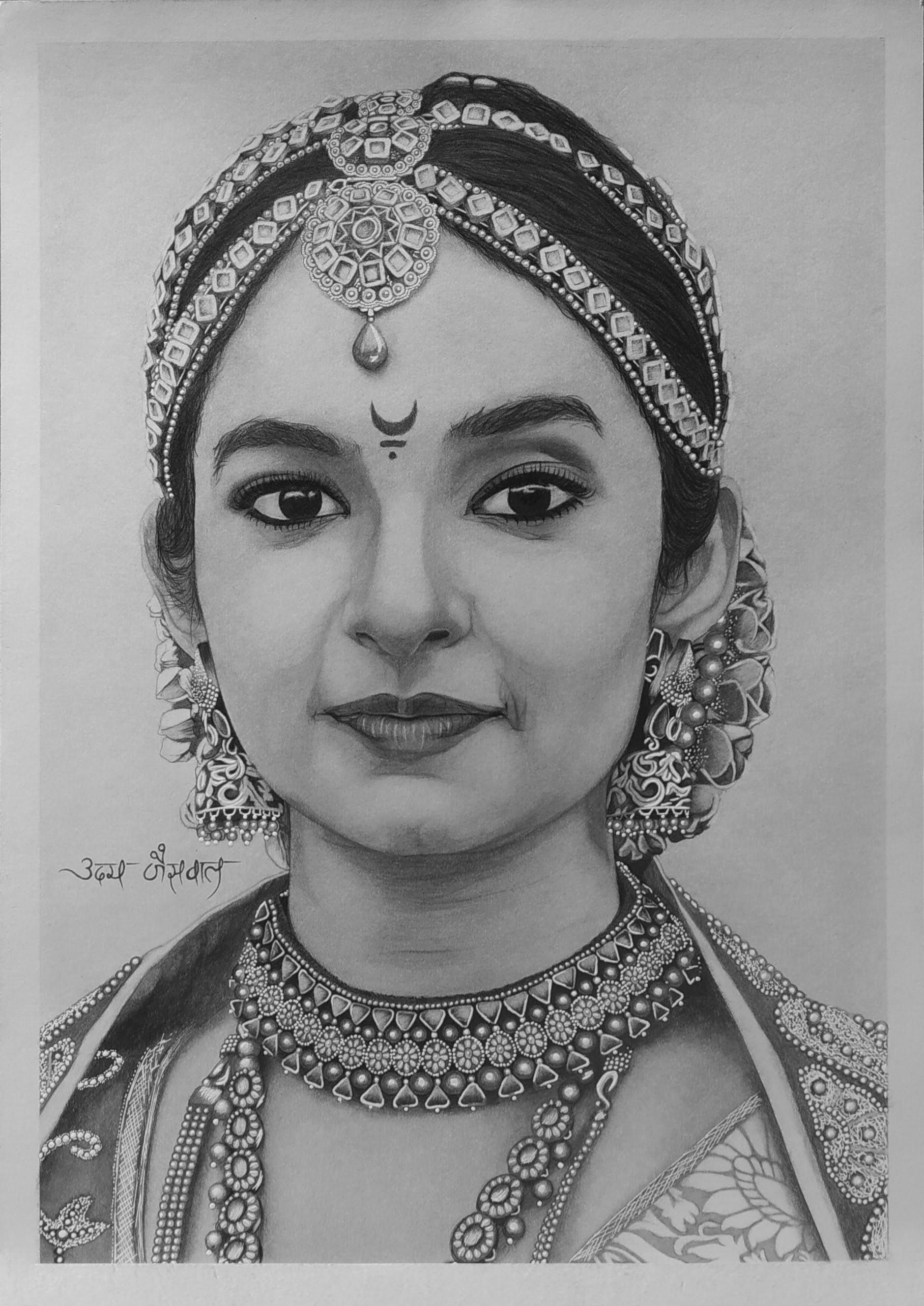 Ms. Anushka Sen (Jhansi ki Rani) Realistic Portrait