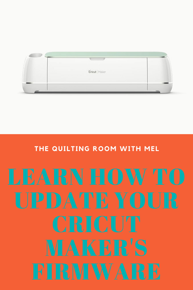 Learn how you can update the firmware of your Cricut Maker.  It's a simple and easy process that will keep your cutting machine running smoothly. #cricutmaker #cricuthelp #cricuttips