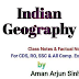 Hand Written Indian Geography pdf Class Notes Download in English