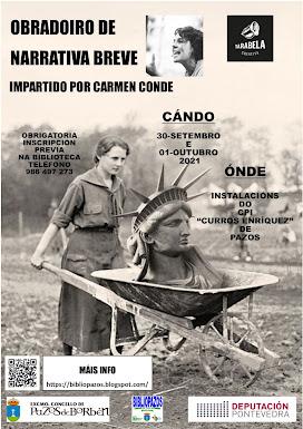 """""""OBRADOIROS DE NARRATIVA BREVE"""" con CARMEN CONDE de Tarabela Creativa SC"""