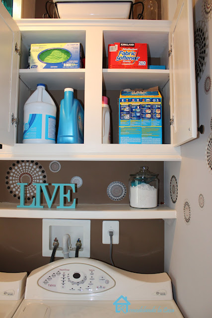 lots of storage space in laundry room