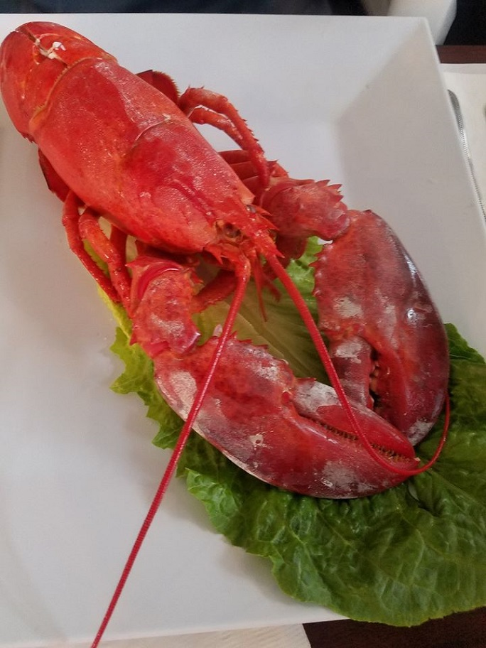 this is a whole Maine Lobster