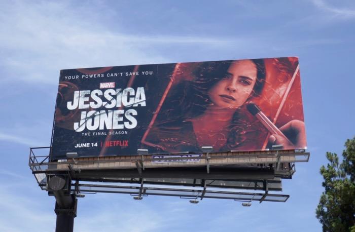 Jessica Jones final season 3 billboard