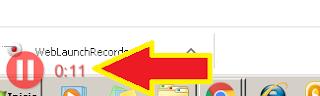 da clic nuevamente sobre el botón rojo para detener la grabación de pantalla