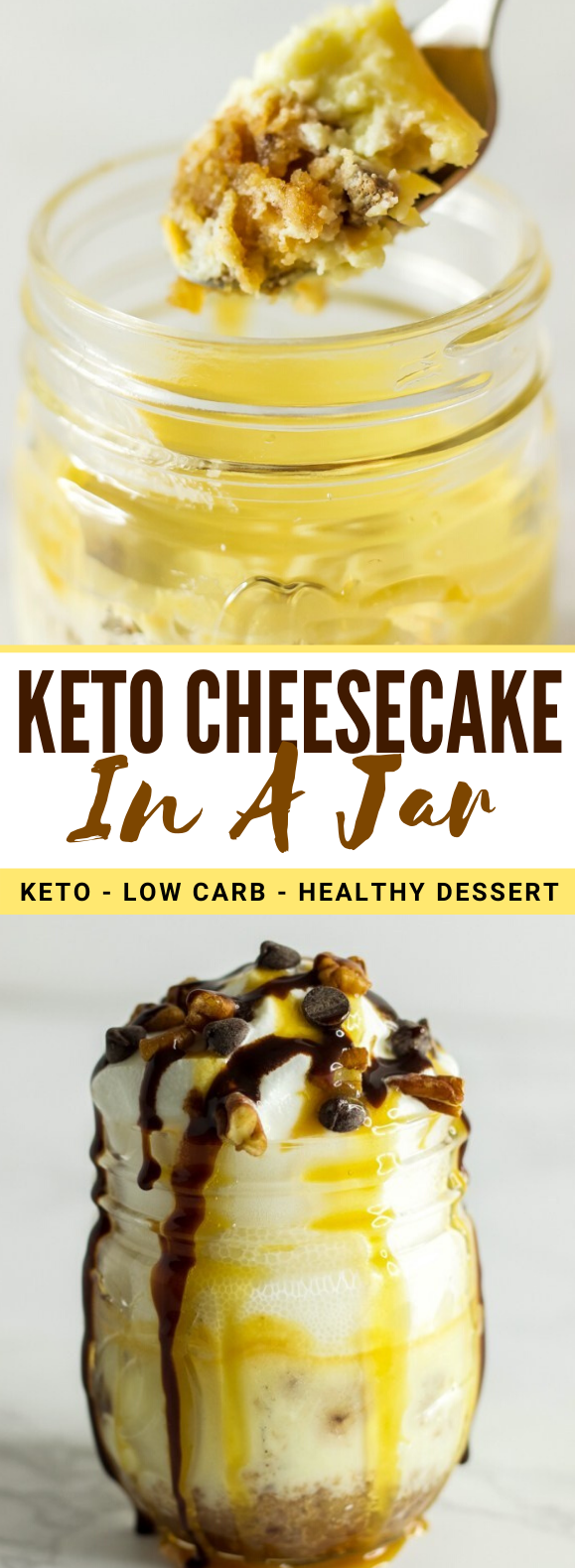 Keto Cheesecake In A Jar (Keto, Low Carb) #healthy #desserts #ketodiet #lowcarb #cheesecake