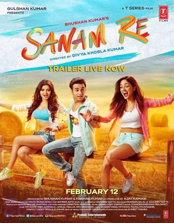 Poster Of Sanam Re 2016 Hindi 700MB DVDRip ESubs Free Download Watch Online