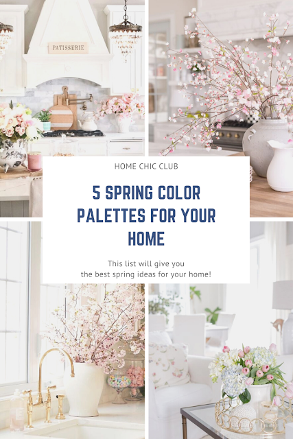 5 Spring Color Palettes For Your Home