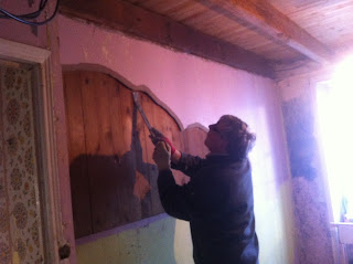 renovation project - how to remove wooden walls in a derelict property