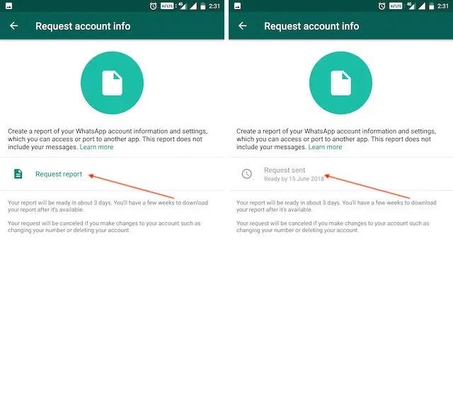 عرض وتصدير بيانات WhatsApp الخاصة بك