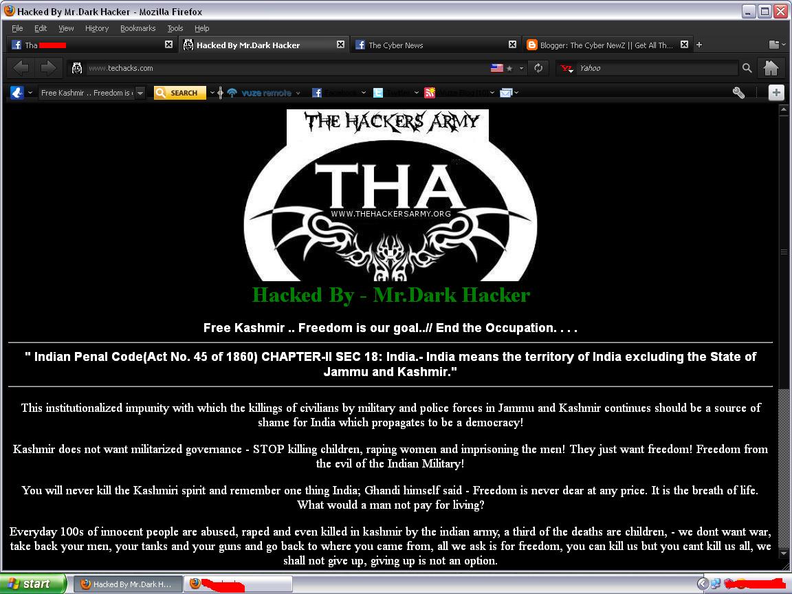 Indian Hackers Got Hacked by Mr Dark Hacker | The Cyber NewZ