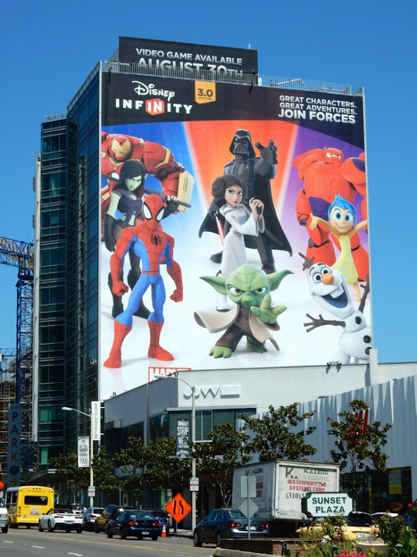 Giant Disney Infinity 3.0 gaming billboard