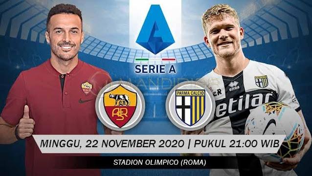 Prediksi AS Roma Vs Parma, Minggu 22 November 2020 Pukul 21.00 WIB