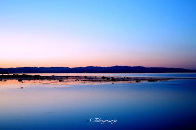 日本の風景 富山湾の夕刻