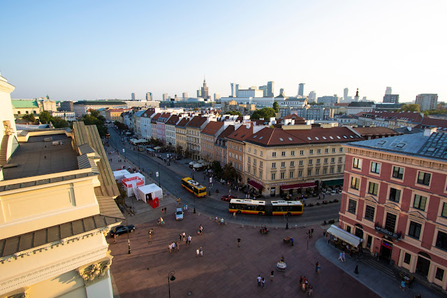 Panorama dalla Chiesa di Sant'Anna-Varsavia