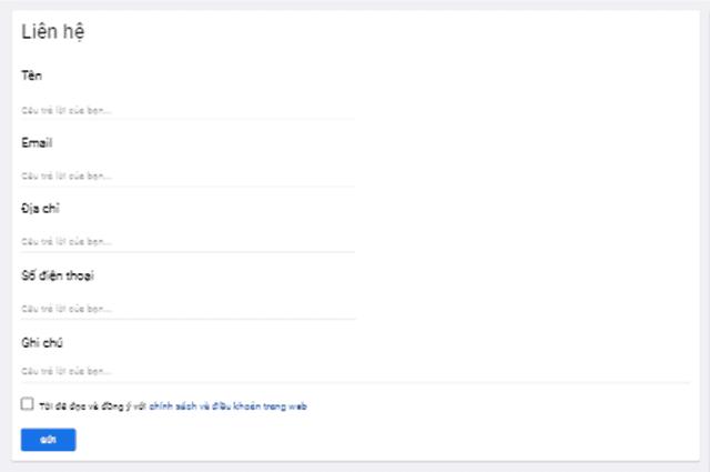 Hướng dẫn tạo mới và chèn google form vào blogspot