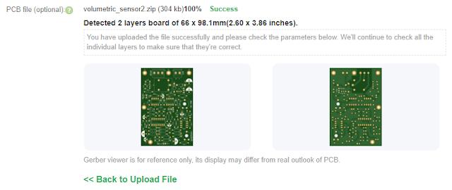 Uploaded PCB at PCBWay