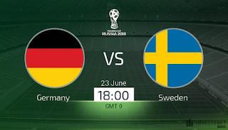 انتهت مباراه المانيا والسويد اليوم 23-6-2018 بنتيجه 2 - 1 لصالح المانيا