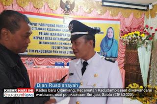 Dian Rusdiansyah, Kades Citamiang