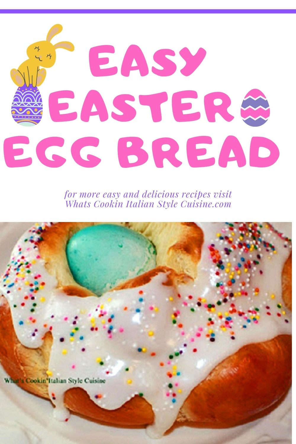 easter bread with an easter egg inside