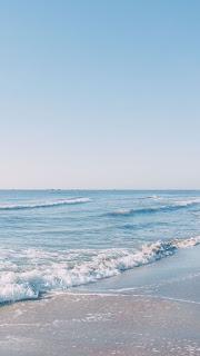 مجموعة مريحة للنظر من خلفيات البحر والشاطئ