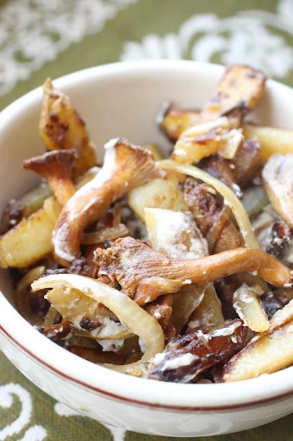 pommes de terre russie champignons
