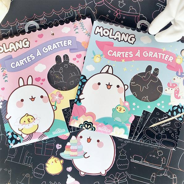 Activité jeunesse : Le cartes à gratter Molang