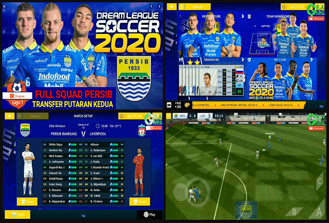 Download DLS Mod Persib Bandung Shopee Liga 1 Putaran 2 APK DATA OBB for Android