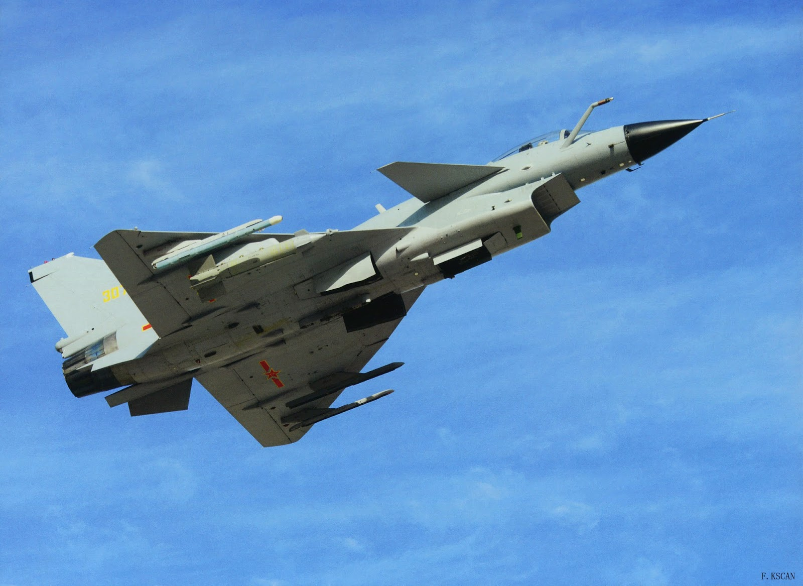 J-10A Fighter Jet Spotted with LS500J Laser Guided Bomb ...