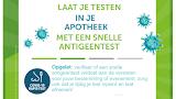 Covid-19 antigeen sneltest vanaf 12 juli 2021 met certificaat