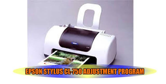 Epson Stylus CL-750 Printer Adjustment Program