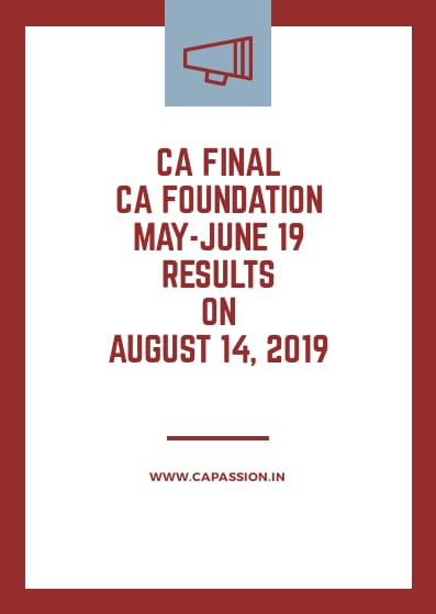 ICAI Announced CA Final May 19 Exams Result Date