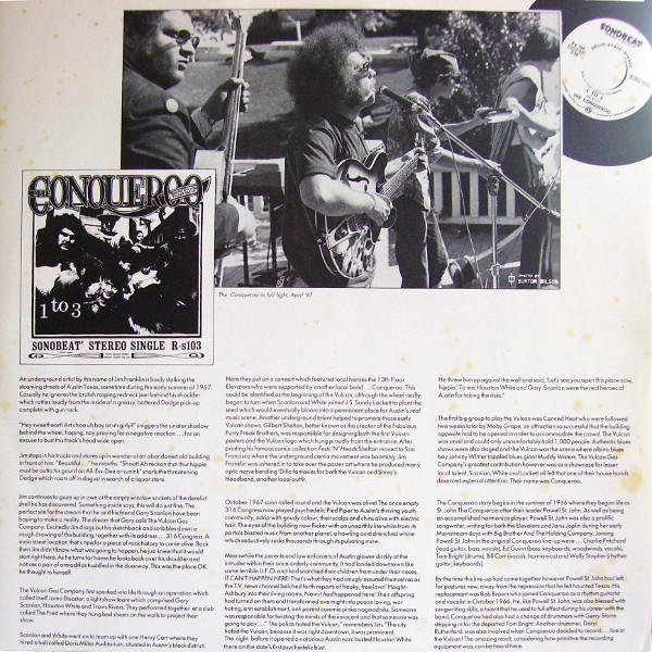 Johnkatsmc5 The Conqueroo Quot The Vulcan Gas Company Quot 1967