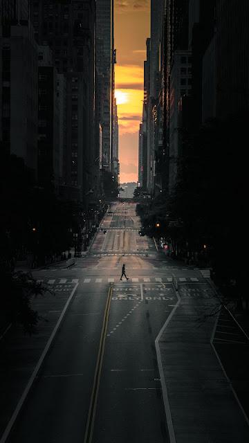 Alone City Full HD Wallpaper