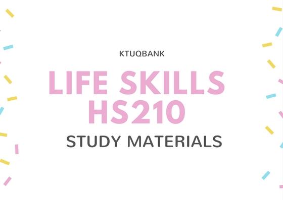 Life Skills | HS210 | Study Materials