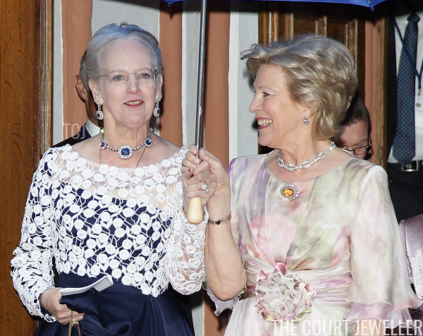 Queen Margrethe II of Denmark and Queen Anne-Marie of Greece