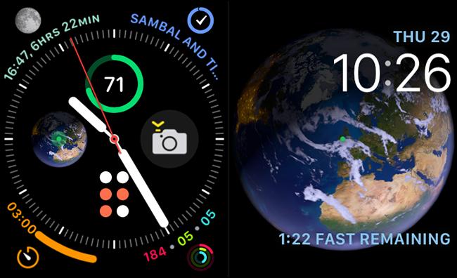 وجوه Infographic و علم الفلك على Apple Watch