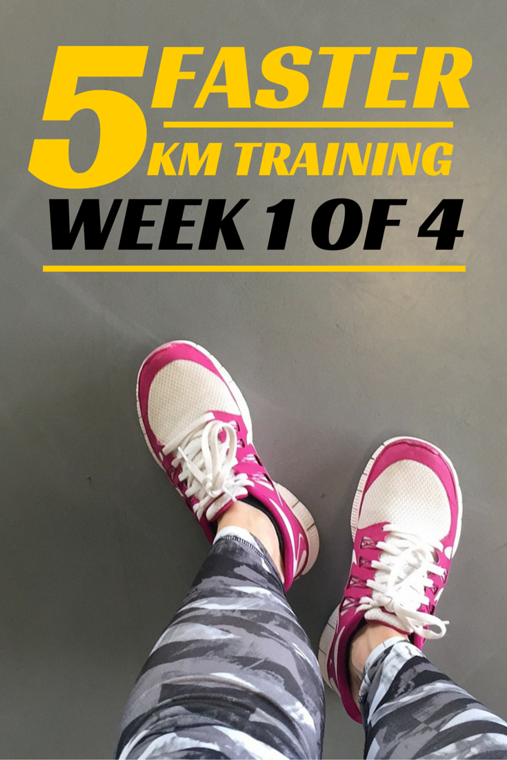 Image for Faster 5 Km, week 1 of 4 of training