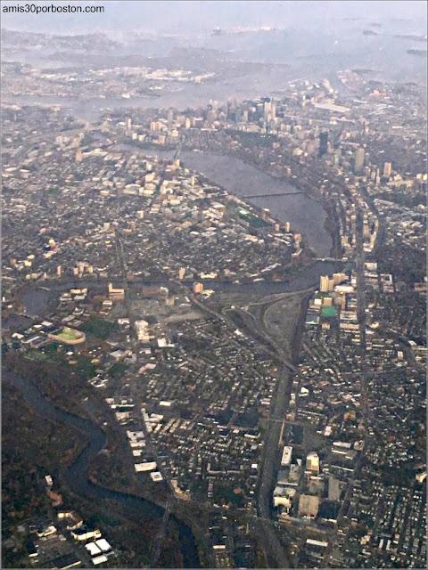 Vista Aérea de Boston al Amanecer