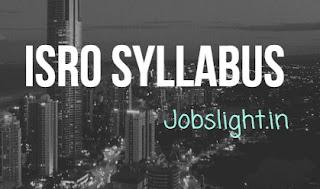ISRO Syllabus