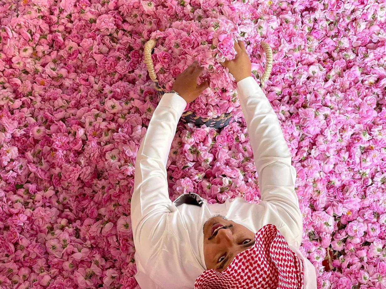 السعودية: مدينة الورود تتألق في أيام العيد