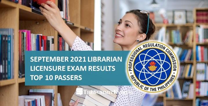 top 10 September 2021 Librarian board exam result