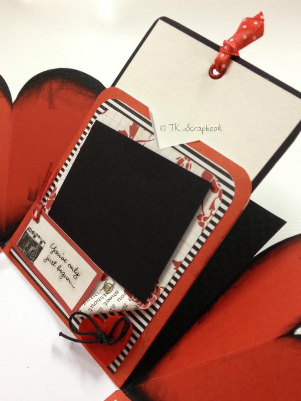caixa explosion box scrapbook amor romântica