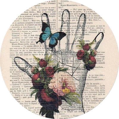 افتار مواقع التواصل رسم يد مع الورود والفراش بالكتاب