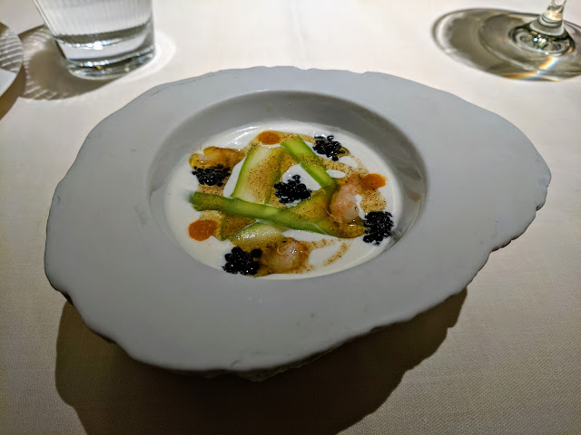 Places to eat in Bilbao. An exquisitely prepared dish at Atelier Etxanobe