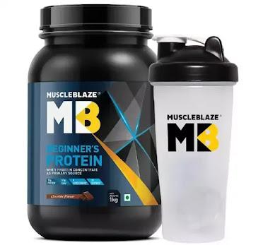 MuscleBlaze Beginner's Whey Protein Supplement.