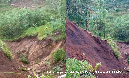 Bencana Longsor Ancam Bukit Guguran Dawen di Plakaran